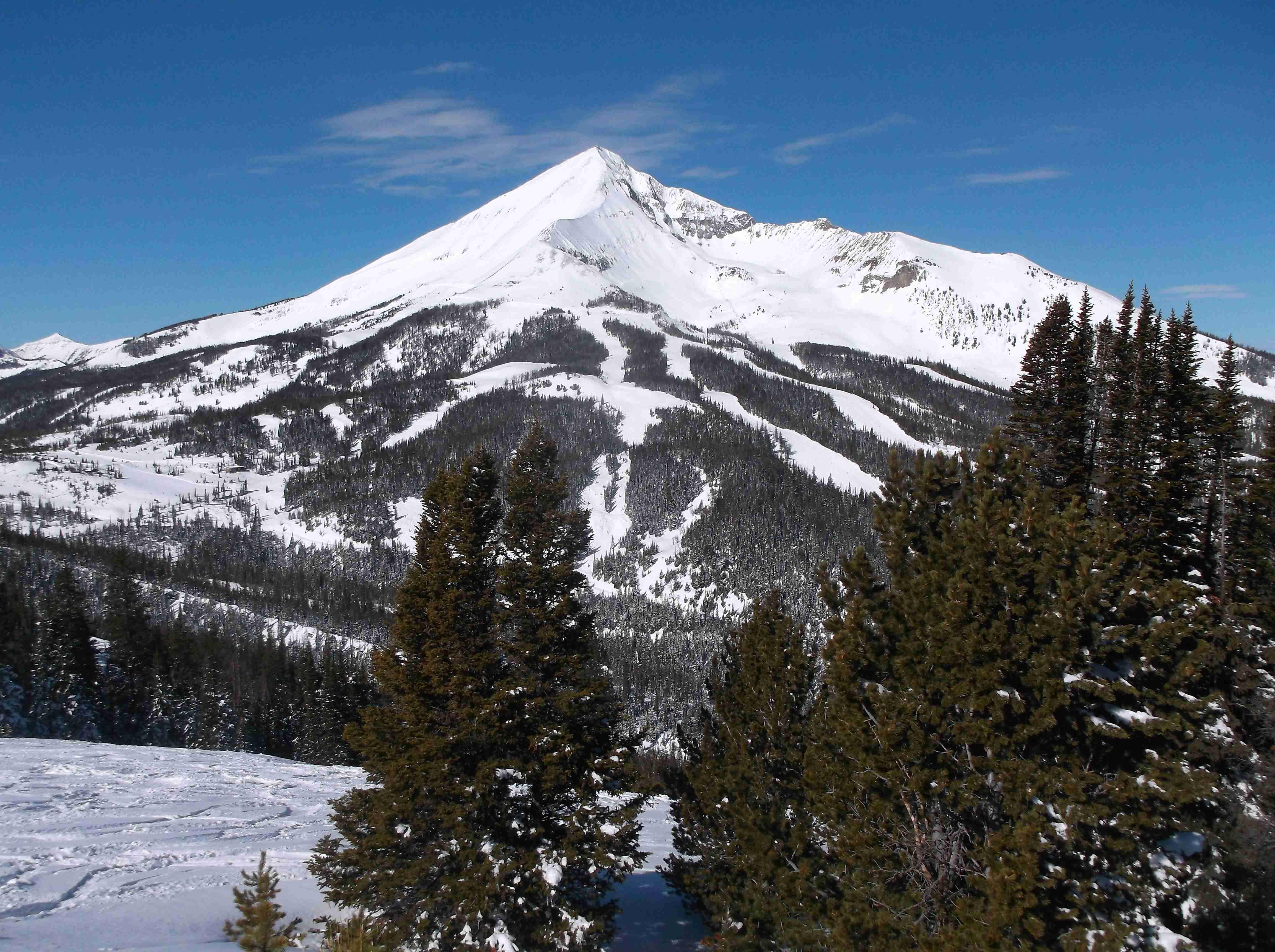 Trails beneath Lone Peak