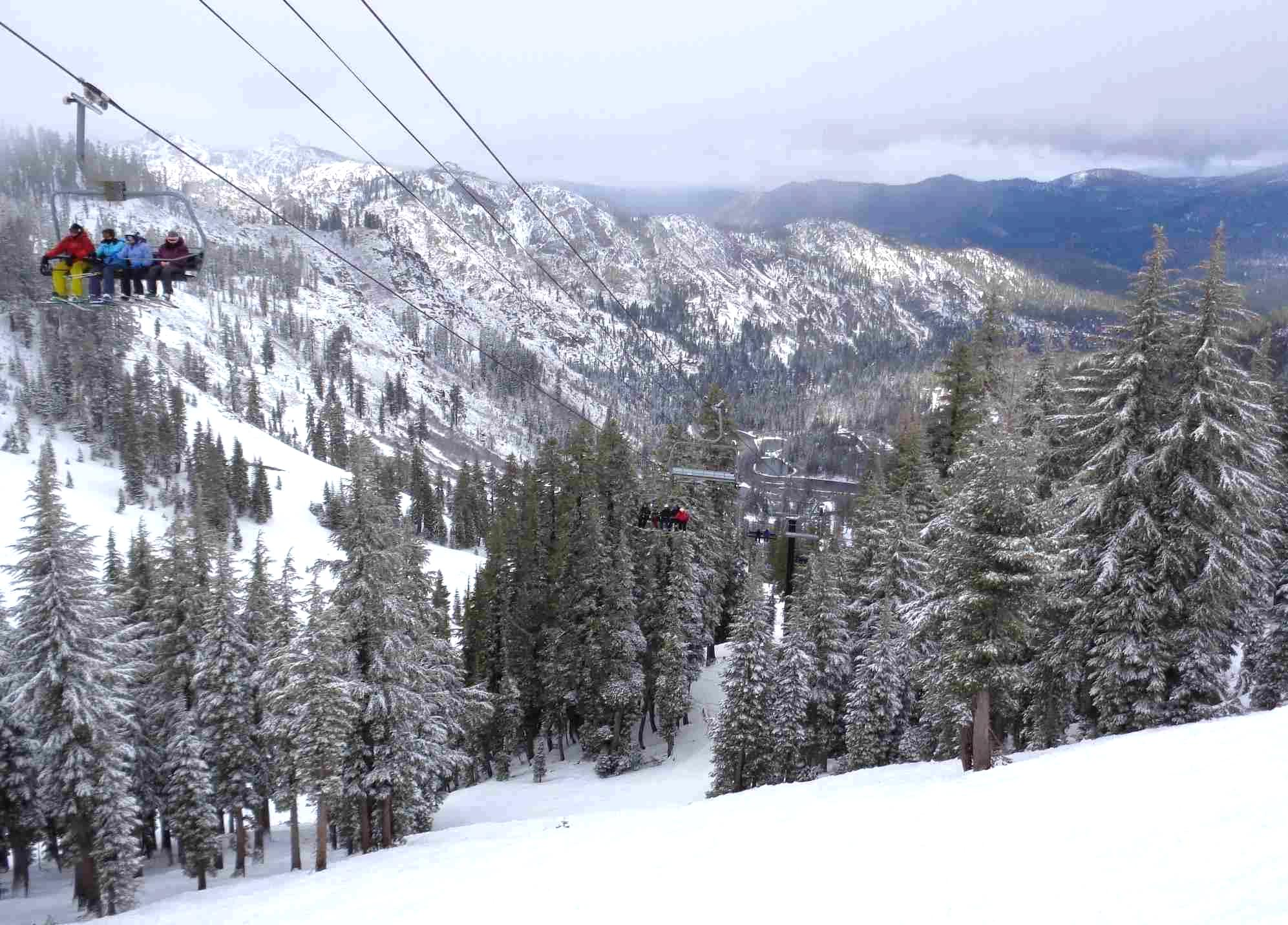 Looking down the Summit Express