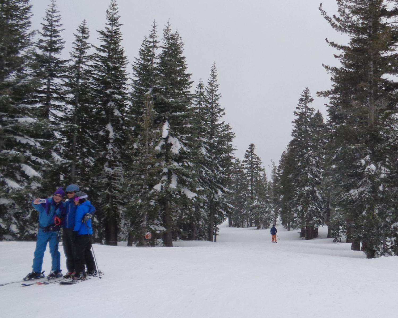 Selfie then ski