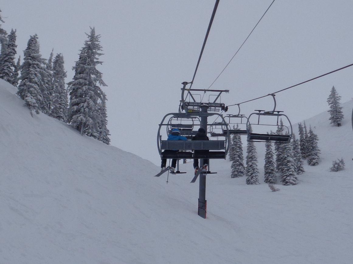 Lift Ride in Powder