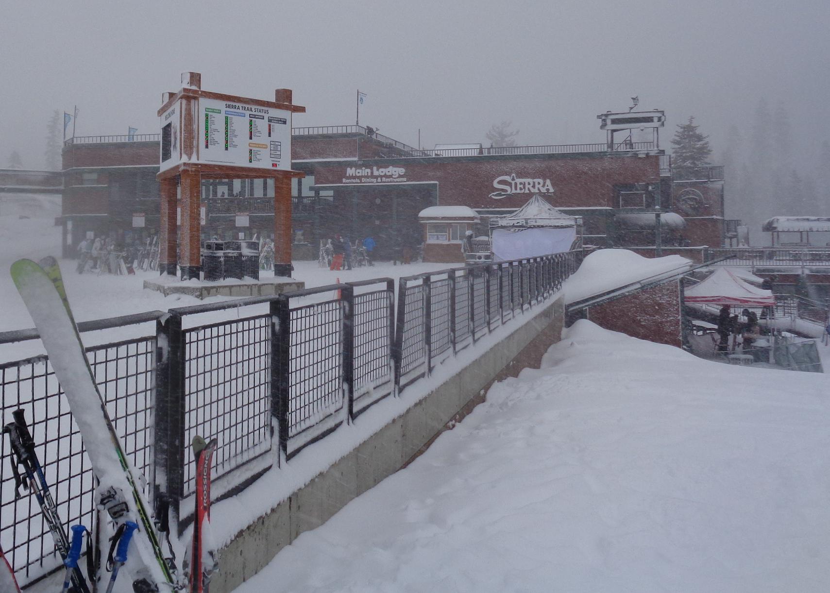 Sierra Base Snowfall area