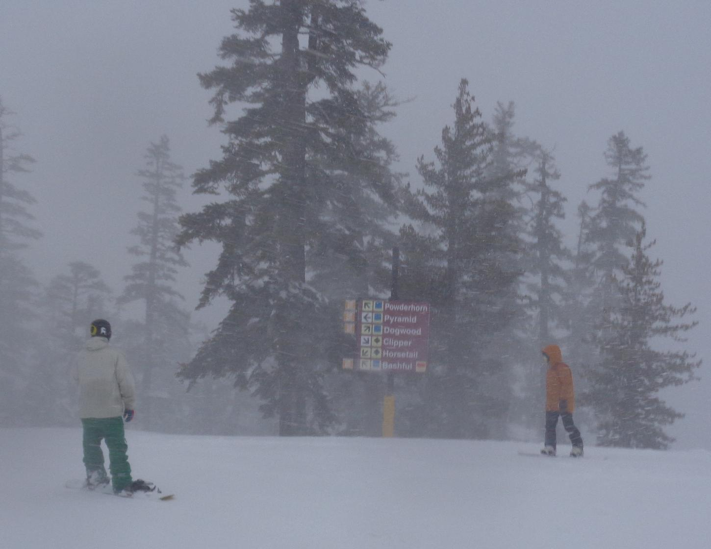 West Bowl in Snow
