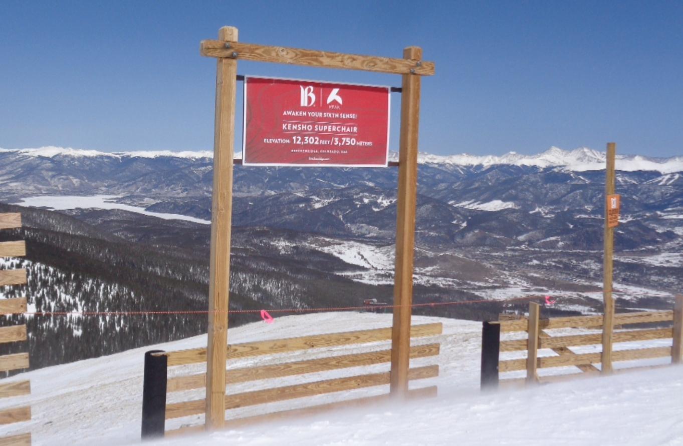 Breck Peak 6 Sign